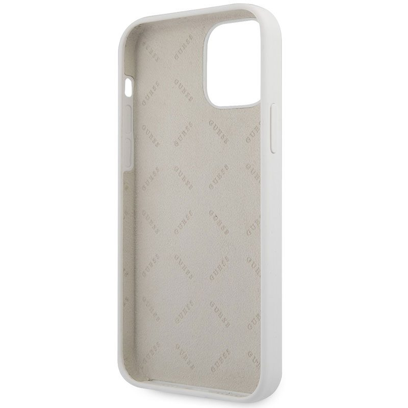 Guess Silicone Vintage Cream Coque iPhone 12 Pro Max