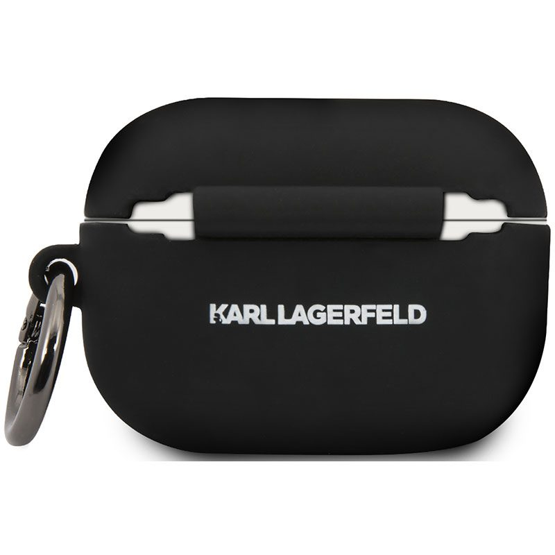 Karl Lagerfeld Choupette Head AirPods Pro Silicone Case Black