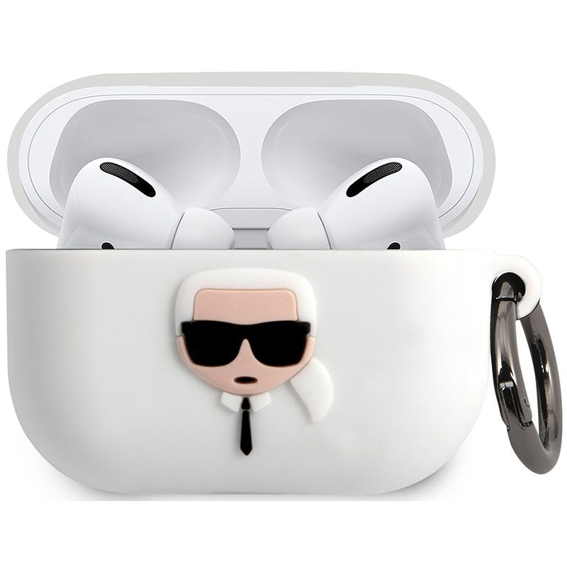 Karl Lagerfeld Head AirPods Pro Silicone Case White