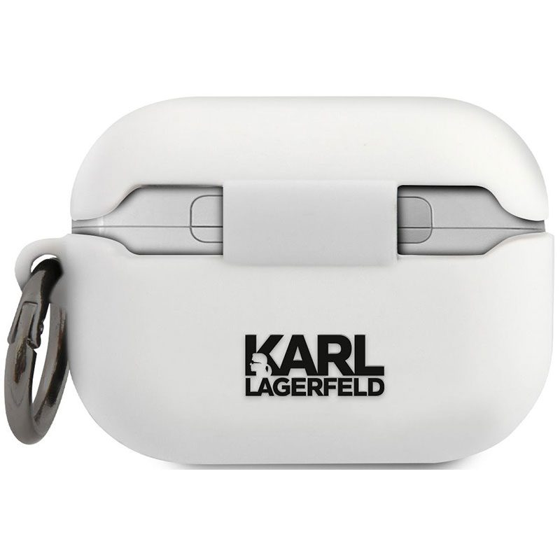 Karl Lagerfeld Rue St Guillaume AirPods Pro Silicone Case White