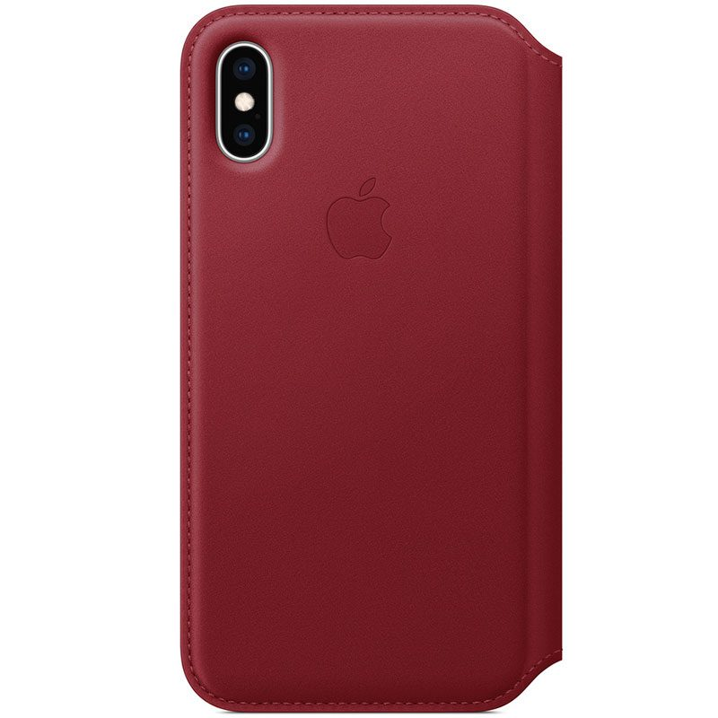 Apple Leather Folio Red Coque iPhone XS