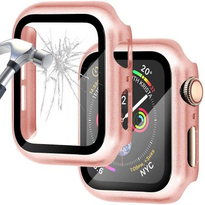 Protective Glass Coque for Apple Watch Bright Rose