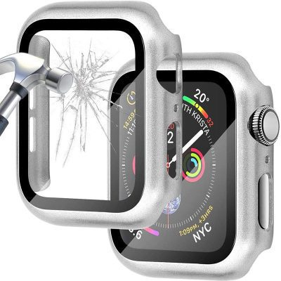 Protective Glass Coque for Apple Watch Silver