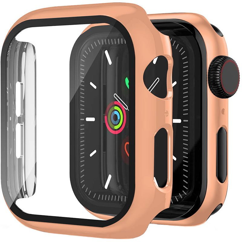 Protective Glass Coque for Apple Watch Rose Gold