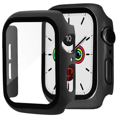 Protective Glass Coque for Apple Watch Black