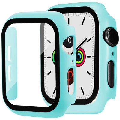 Protective Glass Coque for Apple Watch Light Blue
