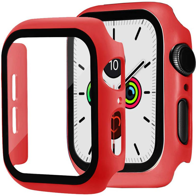 Protective Glass Coque for Apple Watch Red