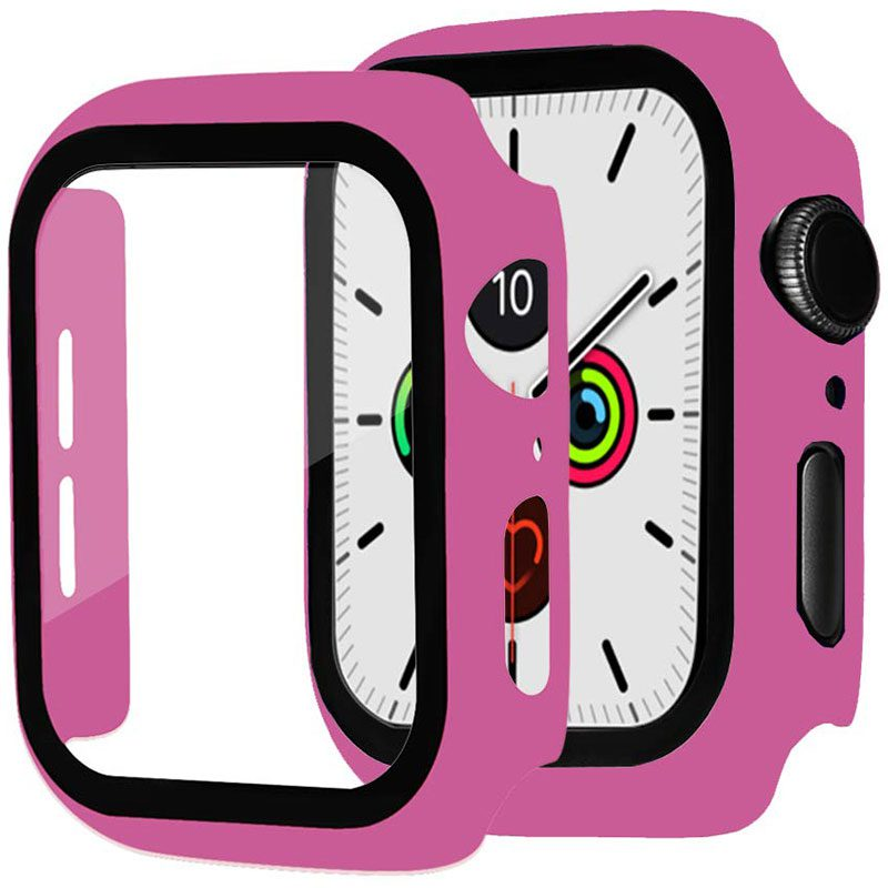 Protective Glass Coque for Apple Watch Rose Red