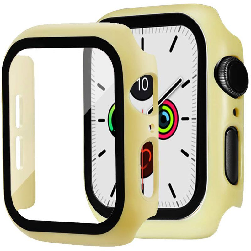 Protective Glass Coque for Apple Watch Yellow