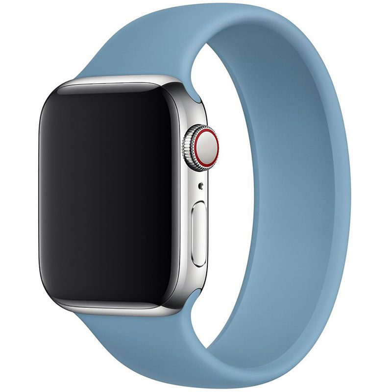 Silicone Solo Loop Bracelet Apple Watch 42/44mm Northern Blue