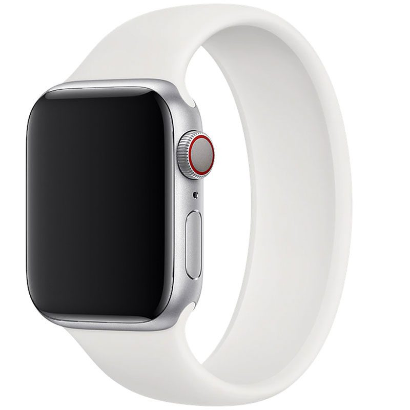 Silicone Solo Loop Bracelet Apple Watch 42/44mm White
