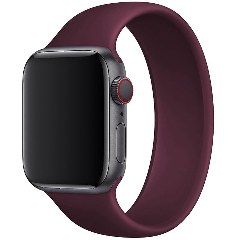 Silicone Solo Loop Bracelet Apple Watch 42/44mm Wine Red