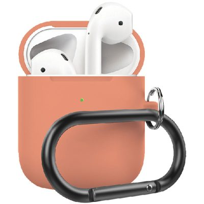 Silicone Protective Coque For Airpods Papaya