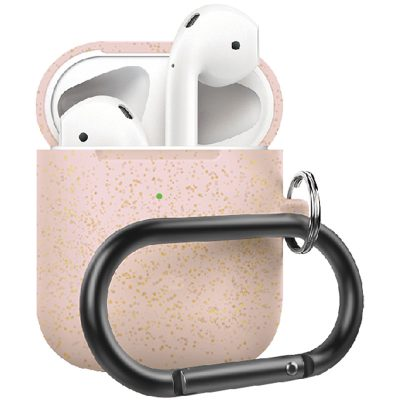 Silicone Protective Coque For Airpods Rose Gold Pearl