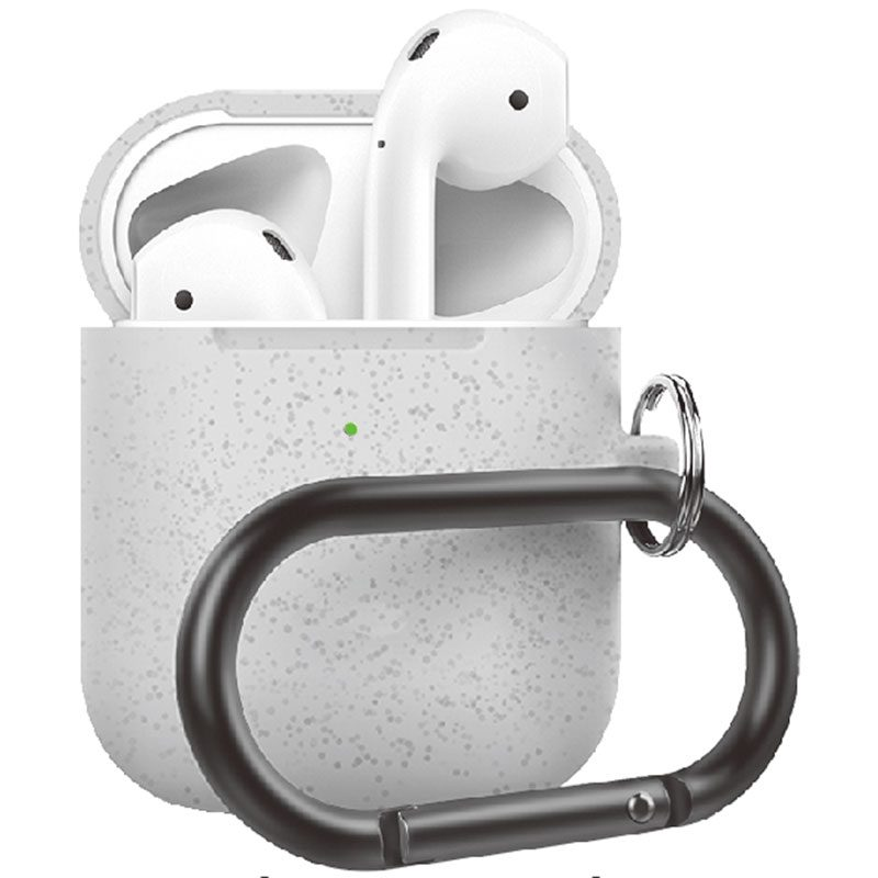 Silicone Protective Coque For Airpods Silver Pearl