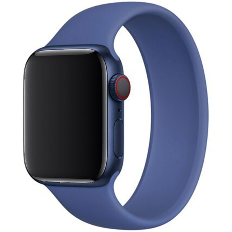 Silicone Solo Loop Bracelet Apple Watch 42/44mm Tomales Blue