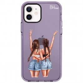 Better Together Brown Hair Coque iPhone 12/12 Pro