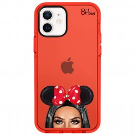 Black Haired Girl With Ribbon Coque iPhone 12/12 Pro