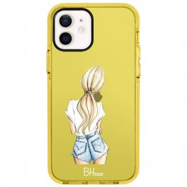 Blonde Back Girl Coque iPhone 12/12 Pro