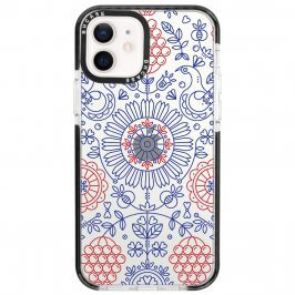 Blue Red Ornaments Coque iPhone 12/12 Pro