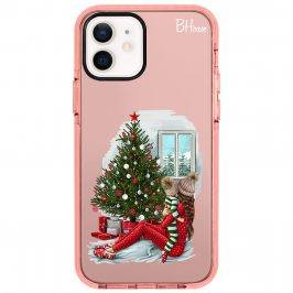 Christmas Mom Brown Hair Coque iPhone 12/12 Pro