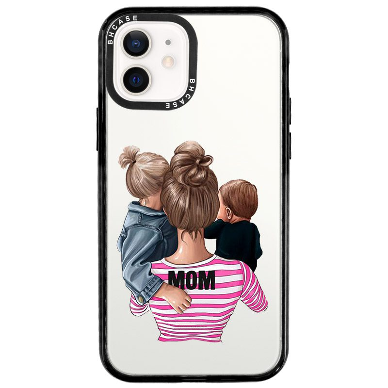Mom Of Boy And Girl Coque iPhone 12/12 Pro