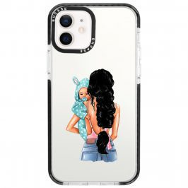 Mother Black Haired With Boy Coque iPhone 12/12 Pro