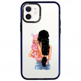 Mother Black Haired With Girl Coque iPhone 12/12 Pro