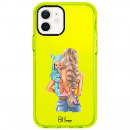 Mother Blonde With Boy Coque iPhone 12/12 Pro