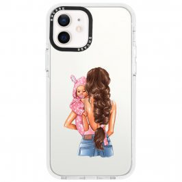 Mother Brunette With Girl Coque iPhone 12/12 Pro