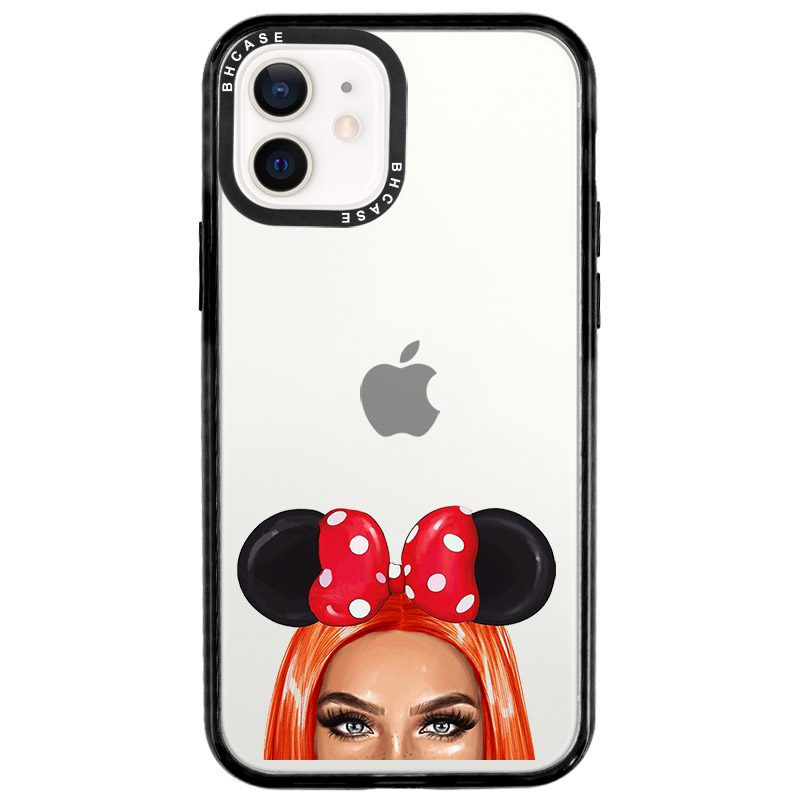 Redhead Girl With Ribbon Coque iPhone 12/12 Pro