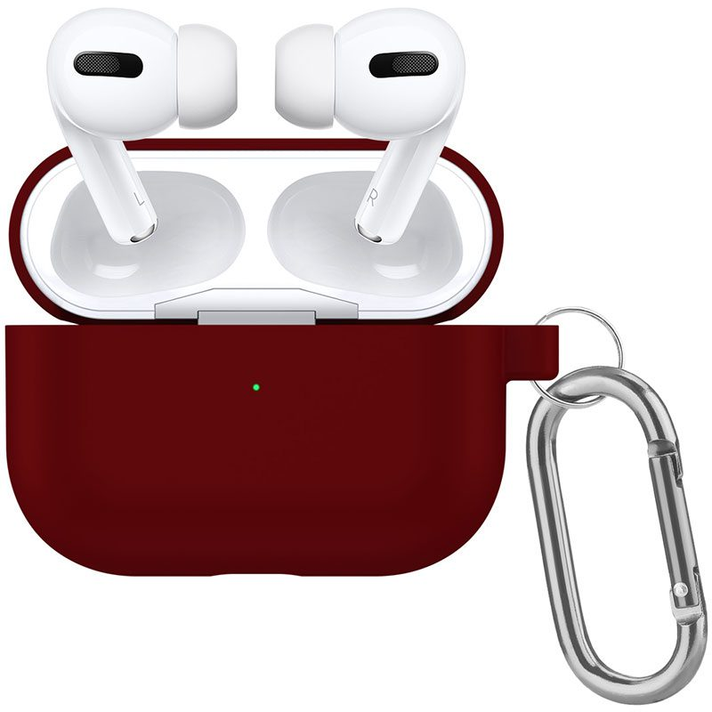 Silicone Coque Airpods Pro Protective Burgundy