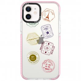 Travel Stamps Coque iPhone 12/12 Pro