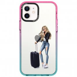 Woman Blonde With Baggage Coque iPhone 12/12 Pro