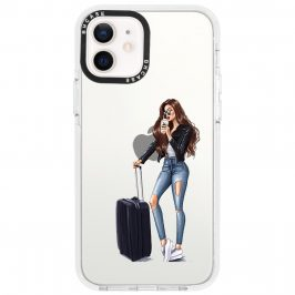Woman Brunette With Baggage Coque iPhone 12/12 Pro