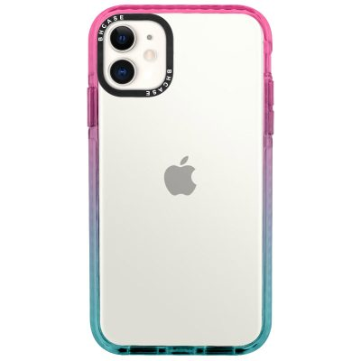 Clair BHholo Pink-Cyan Coque iPhone 11