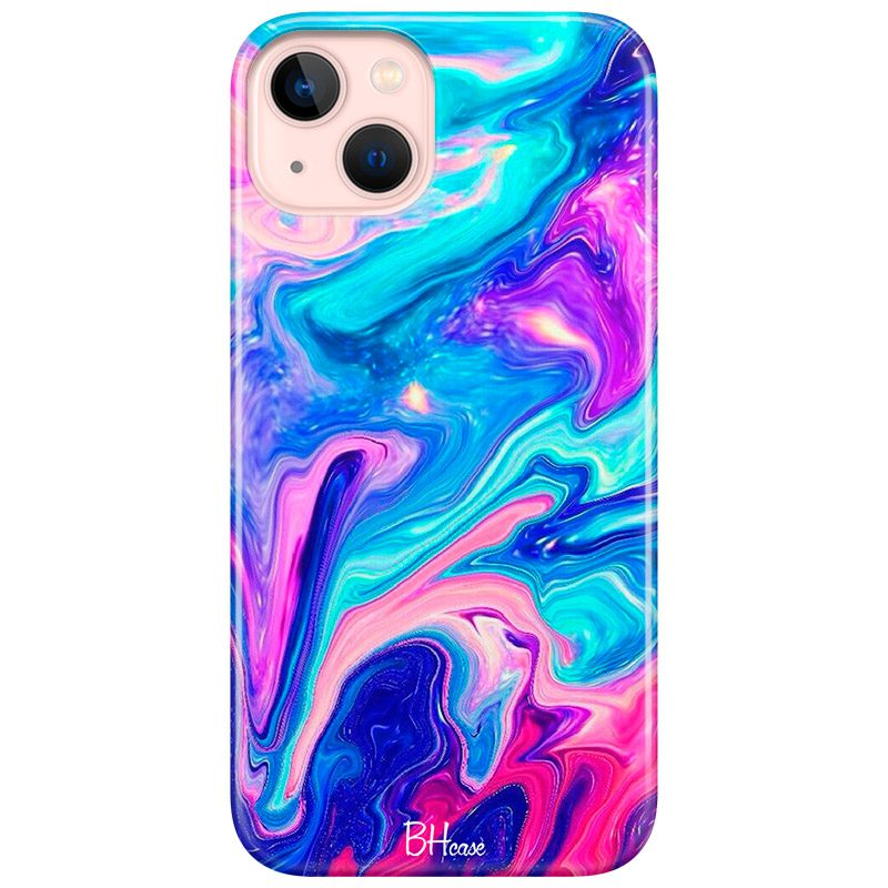 Abstract Blue Coque iPhone 13 Mini