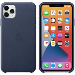 Apple Midnight Blue Leather Coque iPhone 11 Pro Max