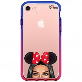 Black Haired Girl With Ribbon Coque iPhone 8/7/SE 2 2020