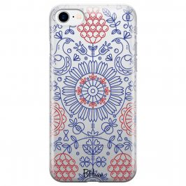 Blue Red Ornaments Coque iPhone 8/7/SE 2 2020