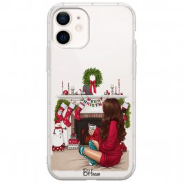 Christmas Day Brown Hair Coque iPhone 12/12 Pro