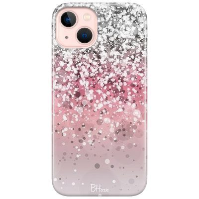 Glitter Pink Silver Coque iPhone 13