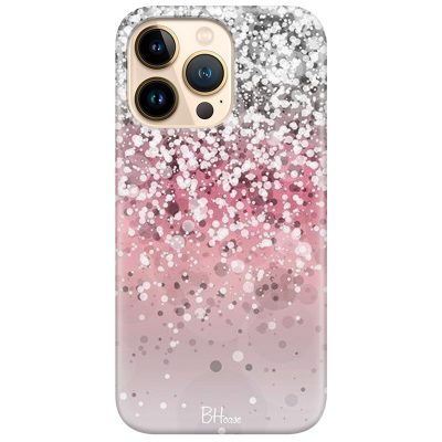 Glitter Pink Silver Coque iPhone 13 Pro Max