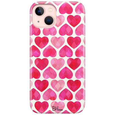 Hearts Pink Coque iPhone 13