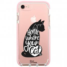 Home Is Where Your Cat Is Coque iPhone 8/7/SE 2 2020