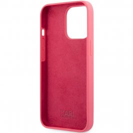 Karl Lagerfeld and Choupette Liquid Silicone Red Coque iPhone 13 Pro Max