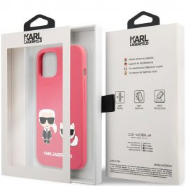 Karl Lagerfeld and Choupette Liquid Silicone Red Coque iPhone 13