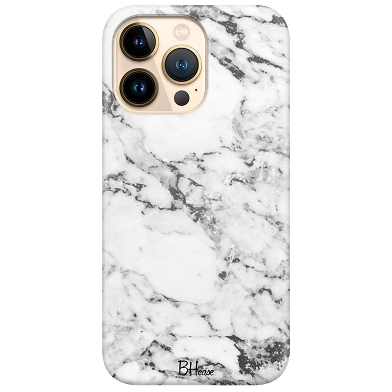 Marble White Coque iPhone 13 Pro