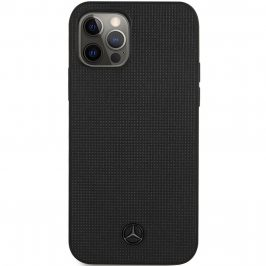 Mercedes Leather Meshed Effect Black Coque iPhone 12/12 Pro