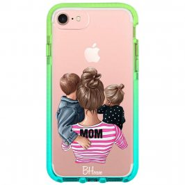 Mom Of Girl And Boy Coque iPhone 8/7/SE 2 2020